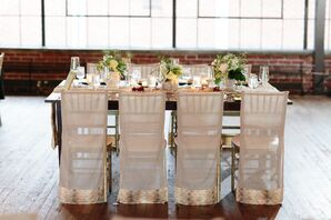 White Draping on Chiavari Chairs