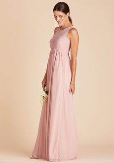 Birdy Grey Ryan Mesh Dress in Rose Quartz Illusion Bridesmaid Dress
