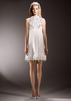 Viktor&Rolf Mariage IMMACULATE SWIRL NECKLINE MINI A-Line Wedding Dress
