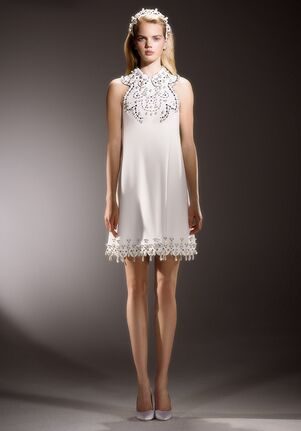 Viktor&Rolf Mariage IMMACULATE SWIRL NECKLINE MINI A-Line Wedding Dress