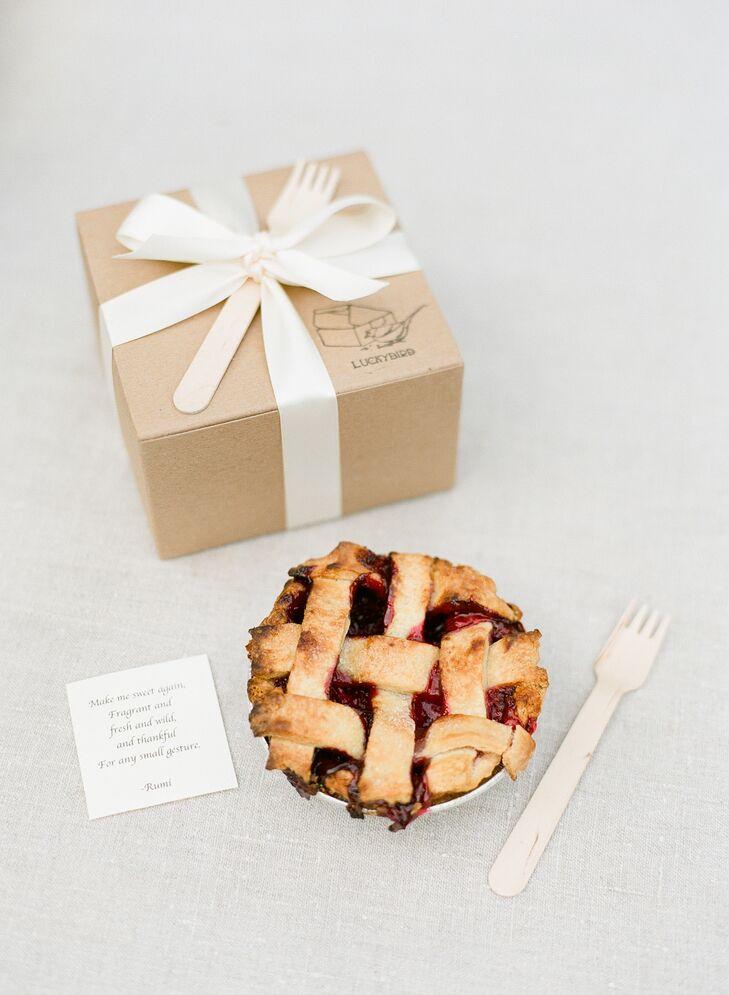 Cherry pie wedding favors