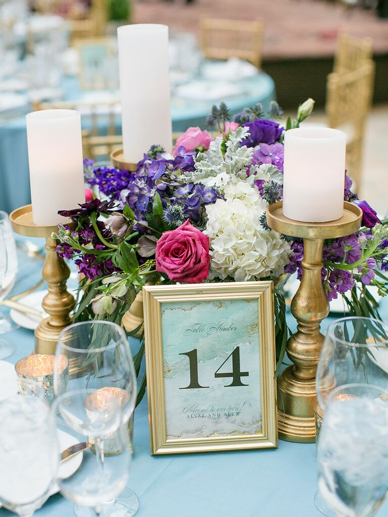Romantic Wedding Centerpieces With Candles