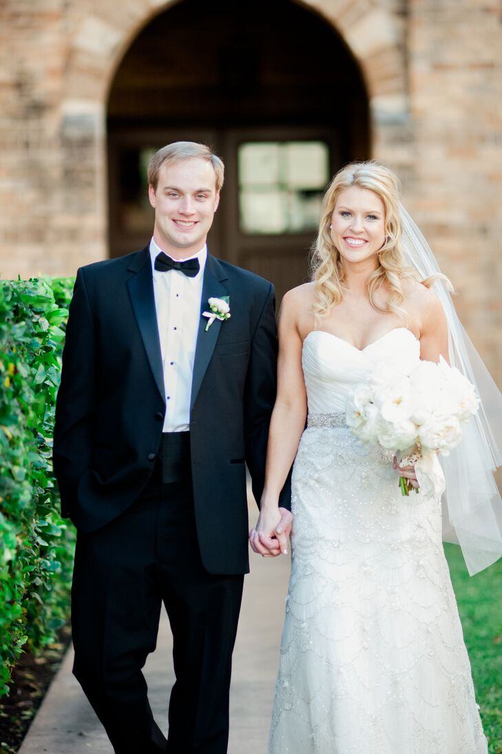 The winter wonderland wedding of Shelby Jinks (27 and a personal trainer) and John Jinks (28 and a real-estate broker) brought guests back to their ch