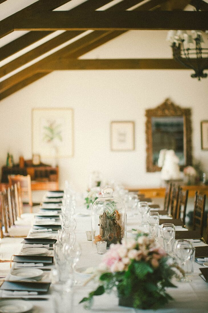 Terrarium Centerpiece At San Ysidro Ranch Reception