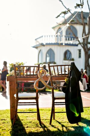 Bride and Groom Custom Chairs