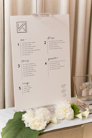 Modern Graphic Escort Card Display