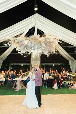 First Dance under a Chandelier and Draping