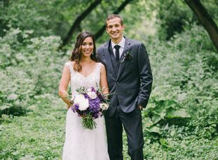 Chelsea Reiter (24 and a veterinary student) and Dillon Lohmer (25 and a commercial airline pilot) outfitted their romantic garden nuptials in etherea