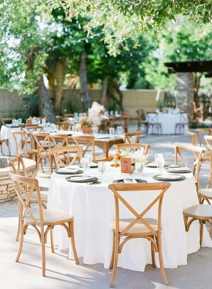 Simple, Rustic Outdoor Reception at The Gage Hotel in Marathon, Texas