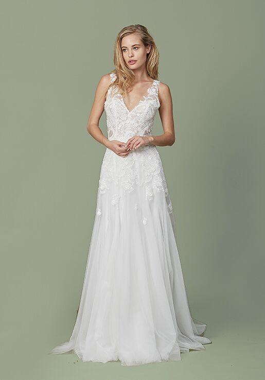 Christos Paisley Wedding Dress - The Knot