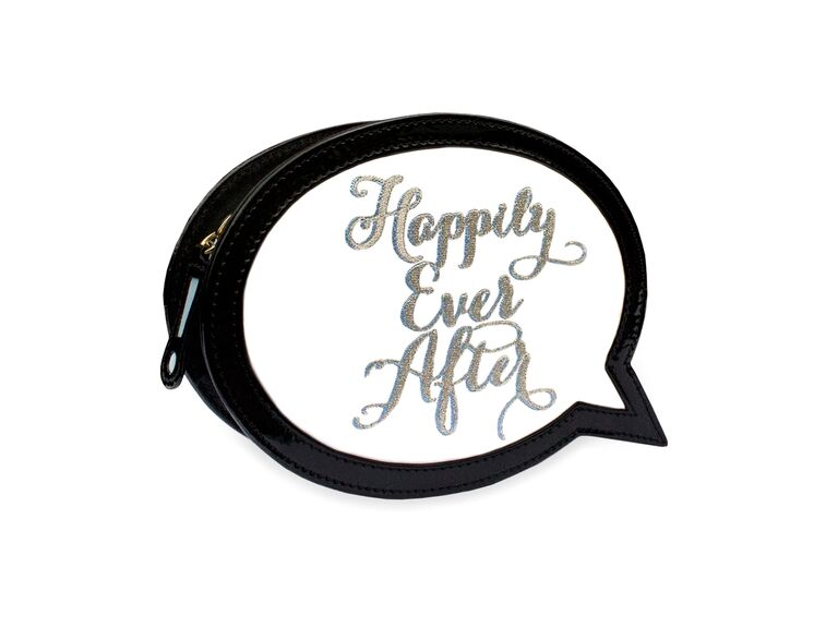 bridal thought bubble clutch