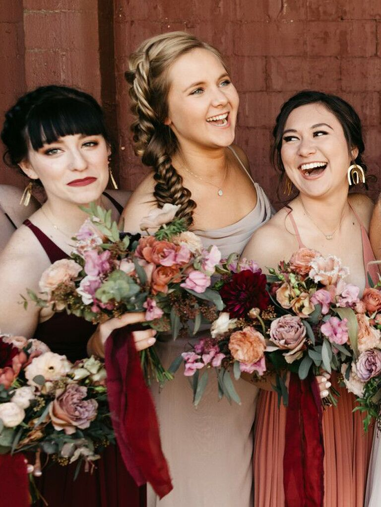 Bridesmaid updos side braid