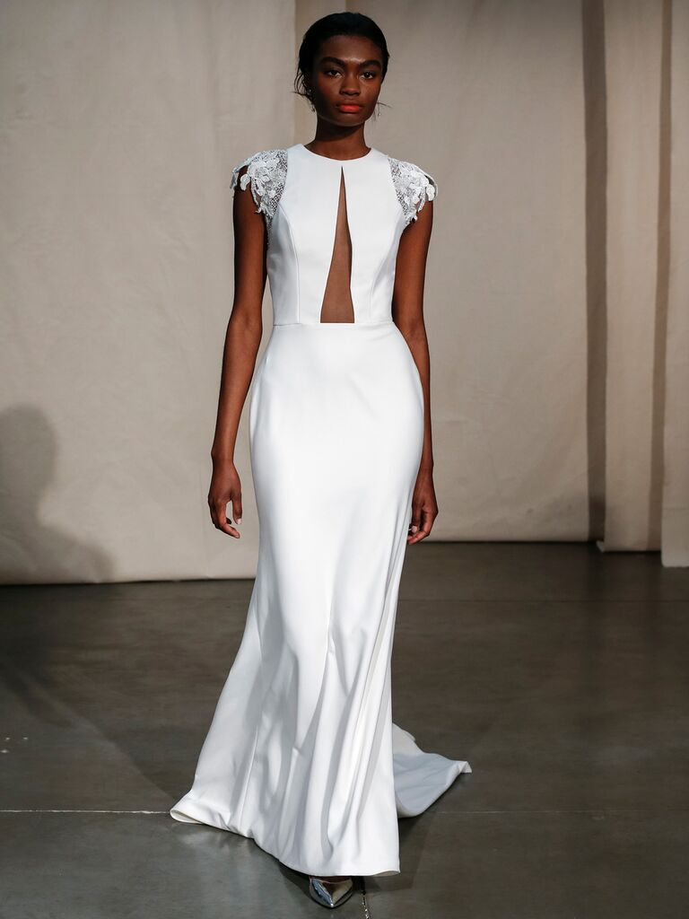 Justin Alexander simple sexy wedding dress