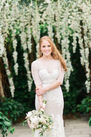 Ivory Lace Watters Wedding Dress
