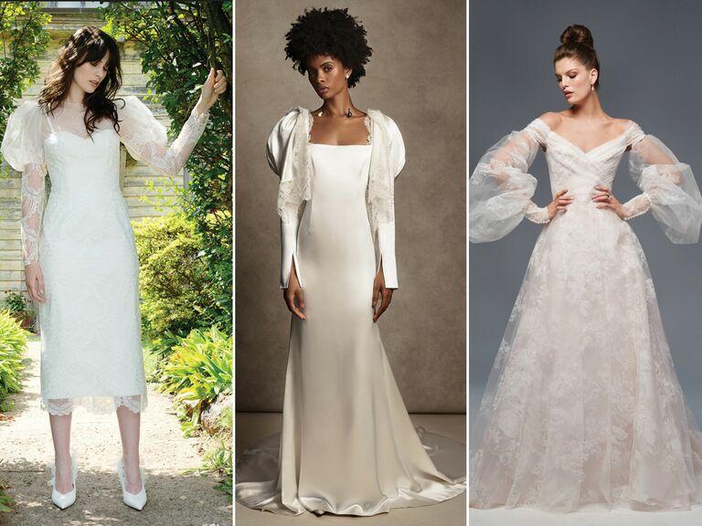 wedding dresses with bishop sleeves