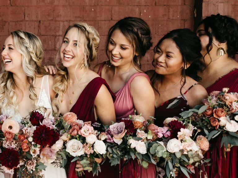 Bridesmaid updo loose bun