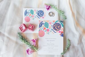 Colorful Illustrated Wedding Invitations