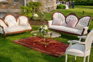 Classic Lounge Furniture at Brecknock Hall in Greenport, New York