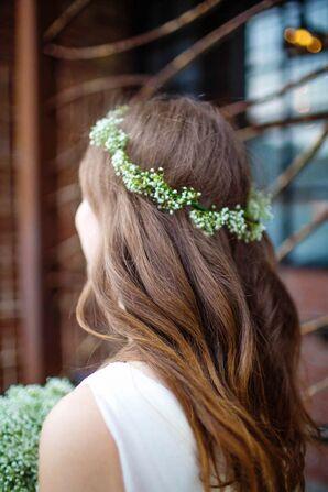 DIY Bohemian Baby's Breath Flower Crown