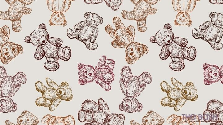 Teddy Bear Baby Shower Zoom Background