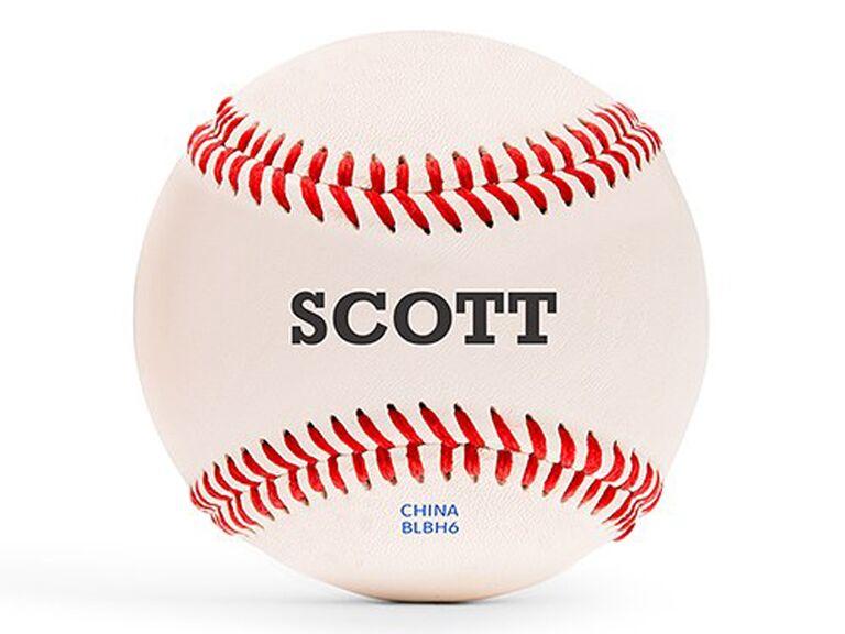Personalized baseball best man gift idea
