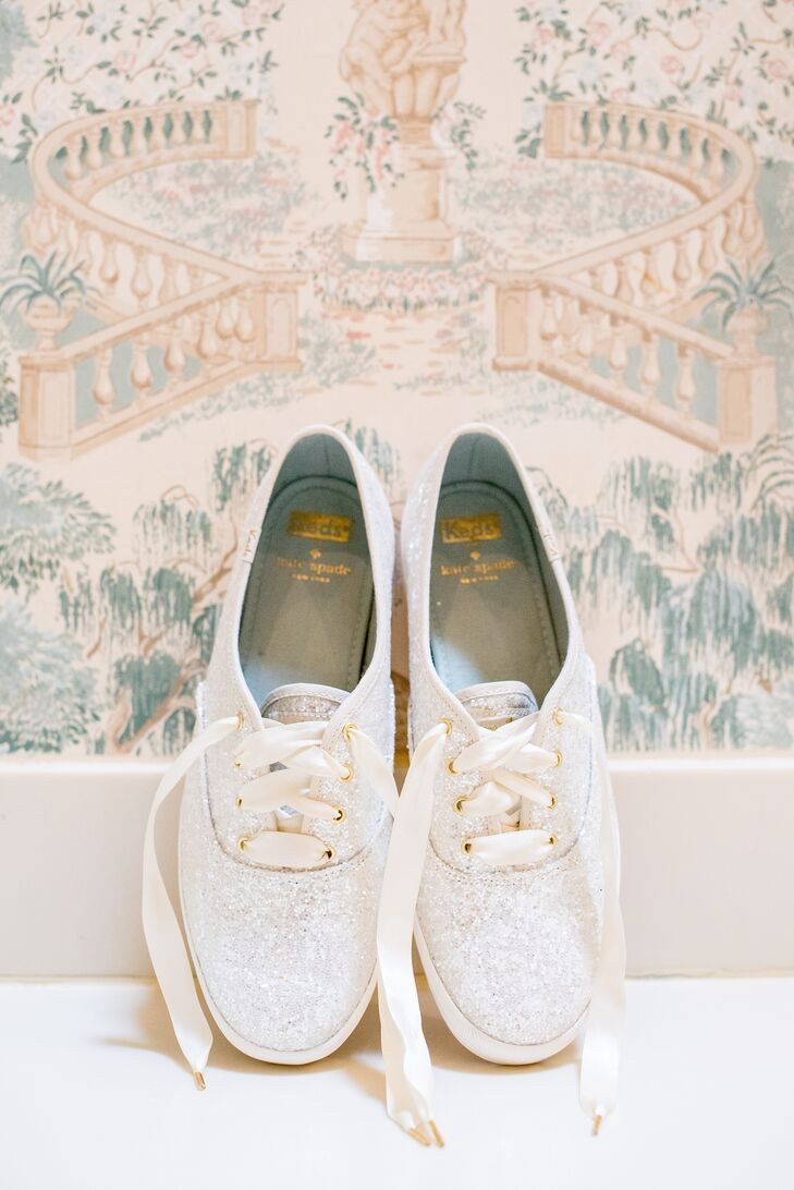 56cd87610 Glittery Bridal Sneakers