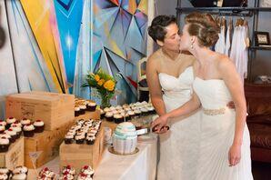 Giant and Mini Cupcake Dessert Table
