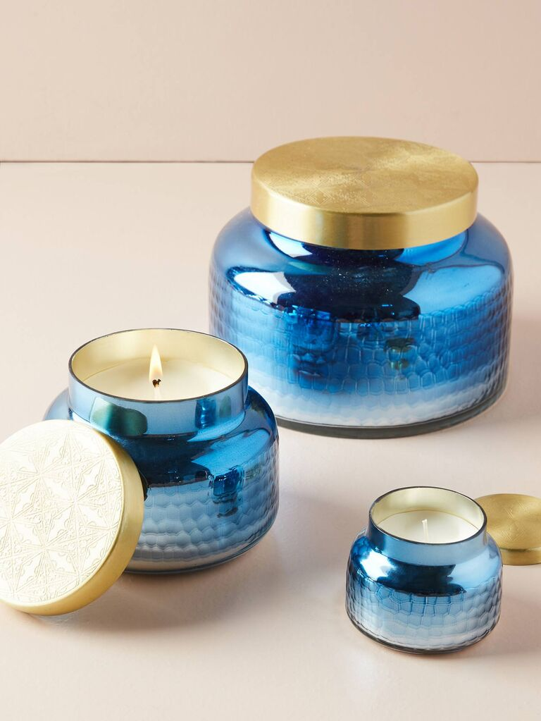 Anthropologie Capri Blue Iridescent Jar Candle