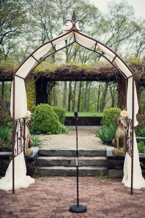 Bronze and Ivory Wedding Arch
