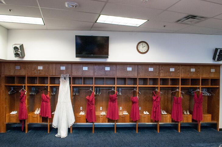 Baseball Lockers Dressing Room