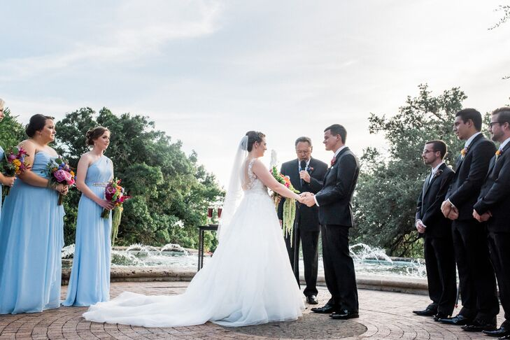 Outdoor Ceremony Near the Fountain at McNay Art Museum
