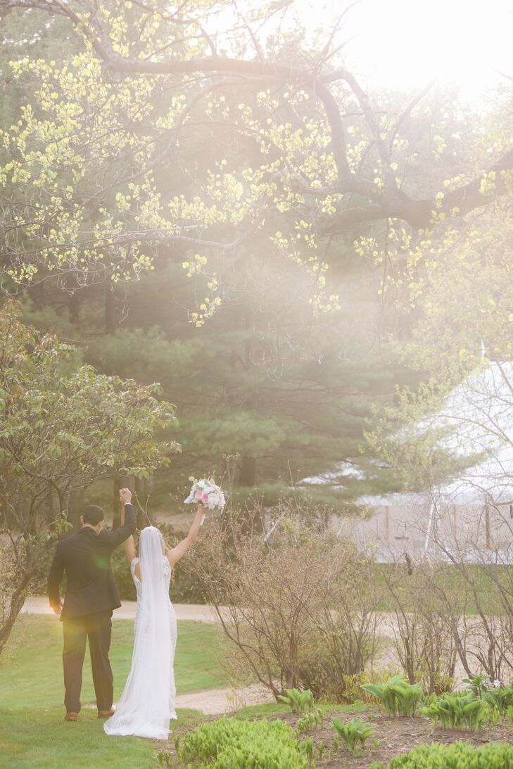 After the 20-minute ceremony, the wedding festivities moved to a tented outdoor reception.