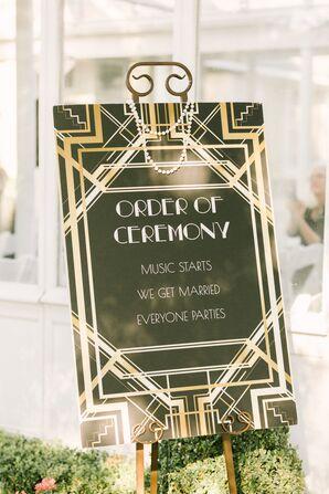 Gatsby-Inspired Ceremony Sign