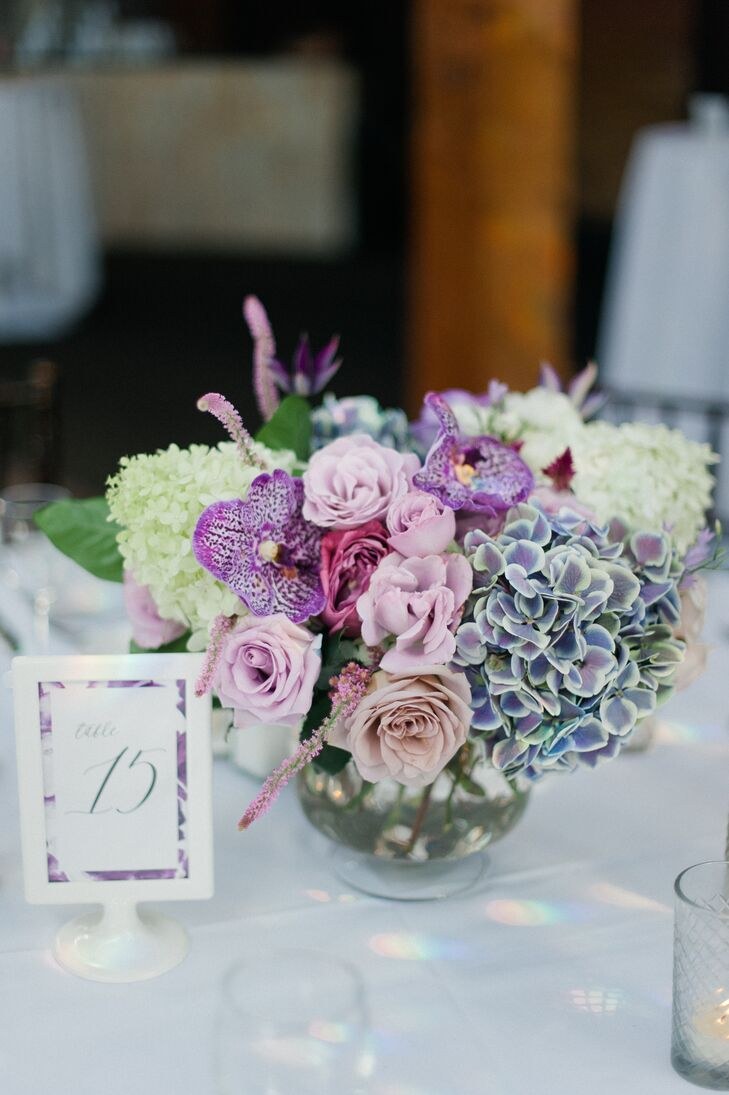 Roses, Hydrangeas, Orchids and Lilac Flower Arrangements