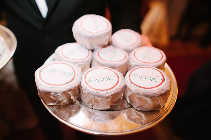 """We had our favorite ice cream sandwiches brought out at the end of the night by Nye's Ice Cream—in peppermint flavor, of course,"" Emery says."