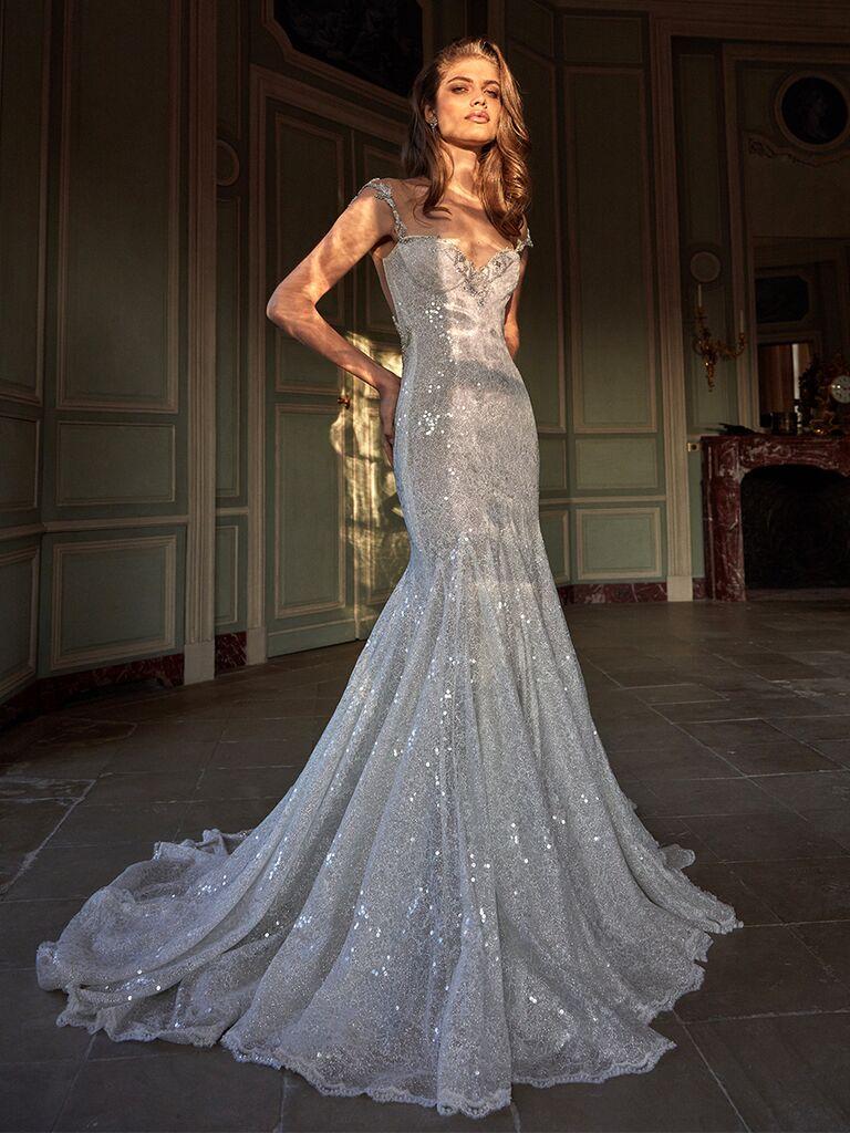 Galia Lahav sequin dress