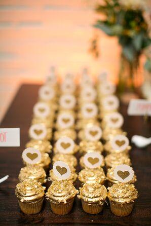 Glamorous Gold Wedding Cupcake Desserts