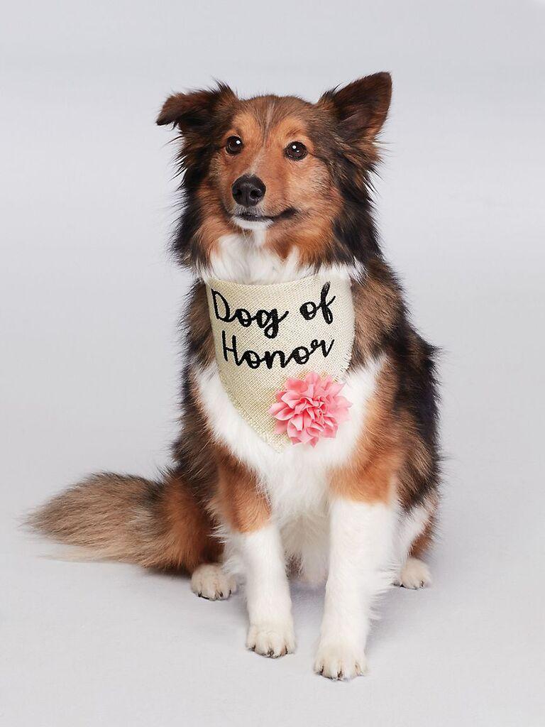 Dog of Honor rustic burlap bandana