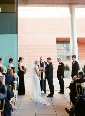 Modern Covered-Balcony Wedding Ceremony