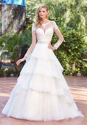 9cbdf374b994d Illusion Neckline Wedding Dresses