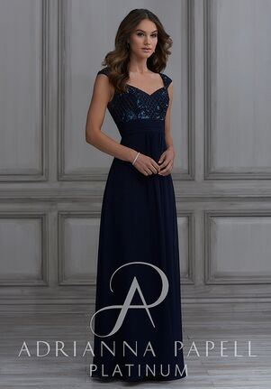 2ad65786b05 Adrianna Papell Platinum 40131 Sweetheart Bridesmaid Dress