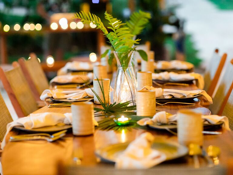 Eco-friendly rehearsal dinner