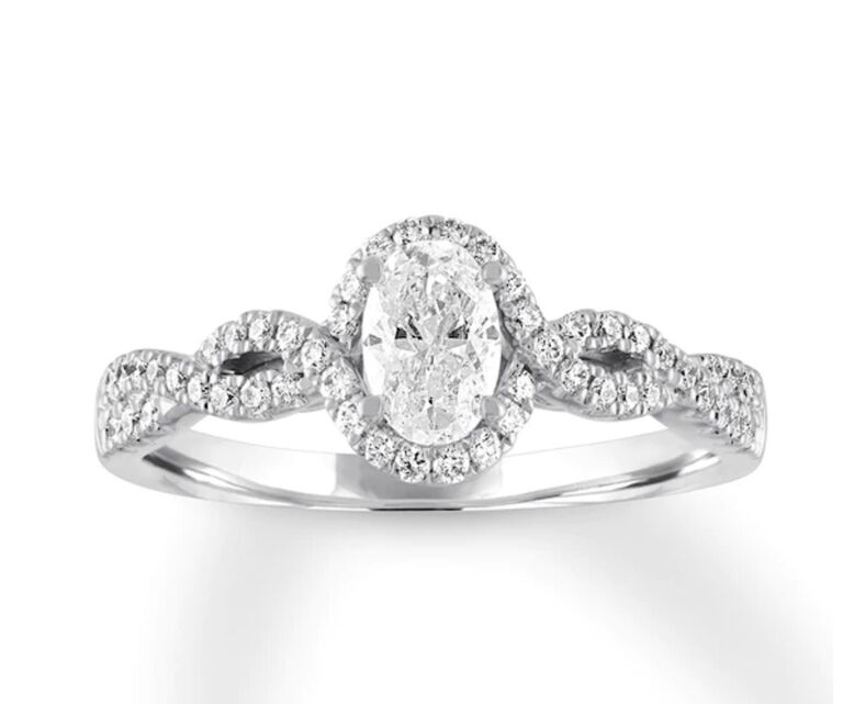 kay oval engagement ring