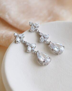 Dareth Colburn Elora Floral CZ Dangle Earrings (JE-4179) Wedding Earring photo