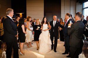 Monique Lhuillier Modified Trumpet Wedding Dress