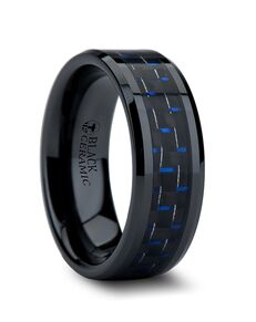 Mens Tungsten Wedding Bands W874-BBCF Tungsten Wedding Ring