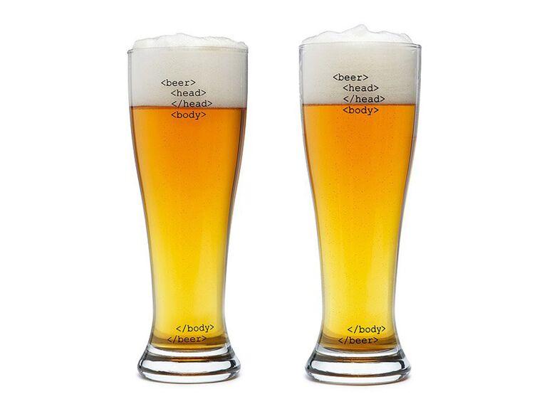 Uncommon Goods' html beer glasses cool groomsmen gift