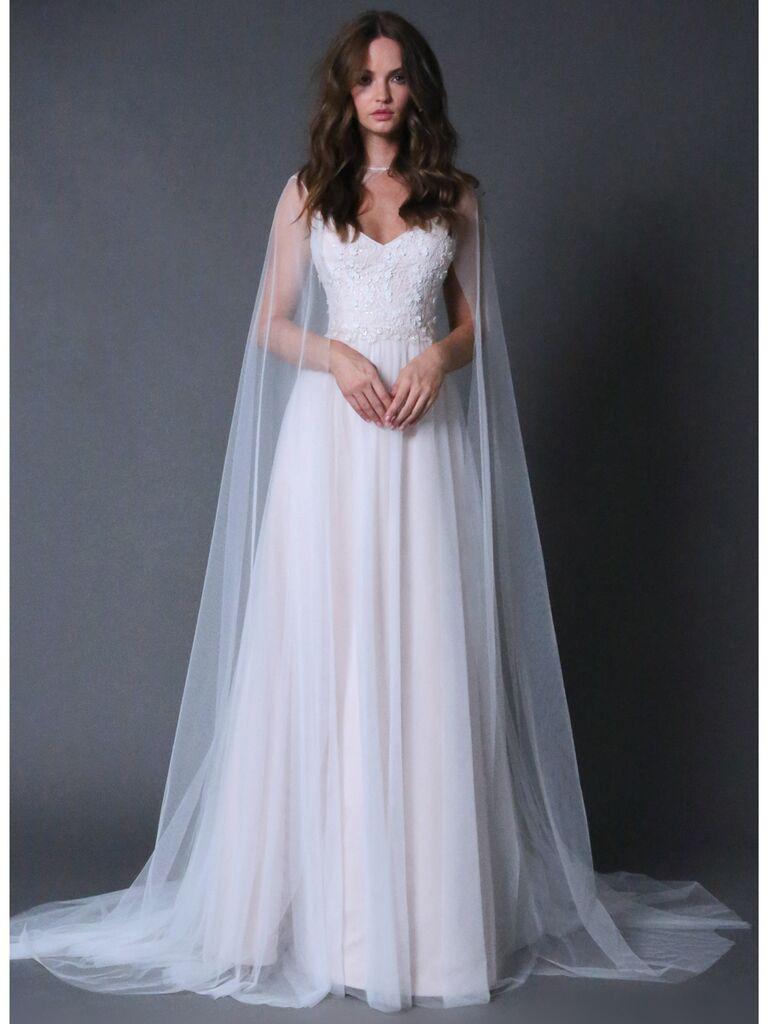 ROMONA New York RB029 ivory and blush wedding dress