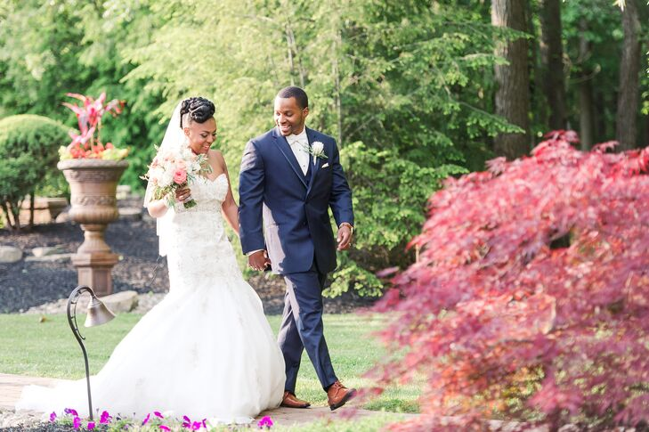 Ashley Rochelle Braxton (28 and a registered nurse) and Jomar (Joey) Turner (29 and a senior maintenance manager) brightened their classic wedding cel
