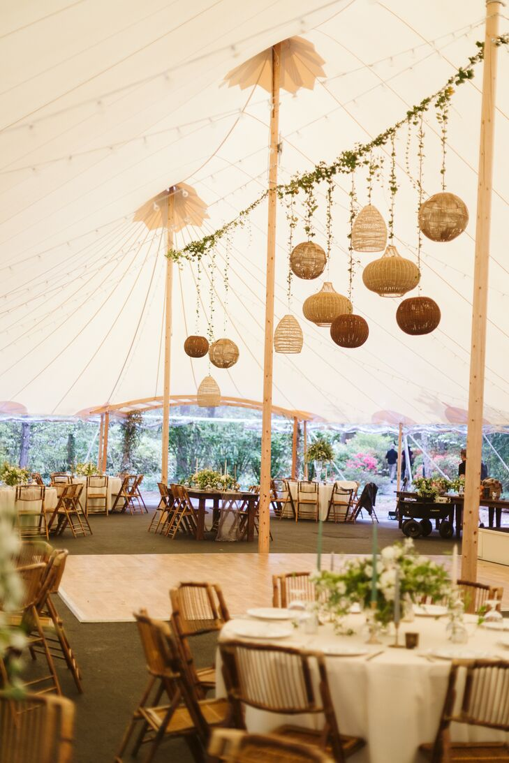 Neutral Tented Reception at RT Lodge